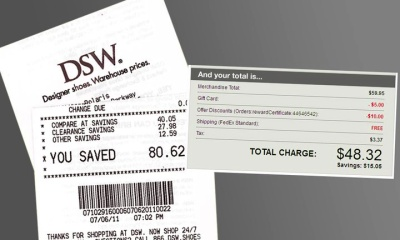 DSW-Shoes-Sales-Receipt