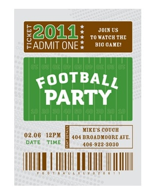 how to throw the ultimate super bowl party - everybody loves coupons, Party invitations