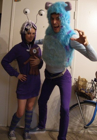 ... Monsters Inc. couple costume ...  sc 1 st  Ultimate Coupons & 6 Fashion Friendly DIY Halloween Costumes for Women - Everybody ...