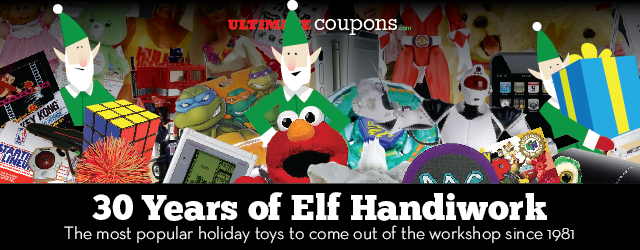 30 Years of Elf Handiwork - The Most Popular Holiday Toys since 1981 [Infographic]