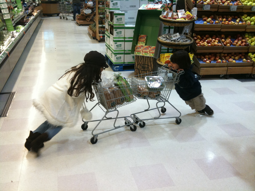Shopping-cart-fight